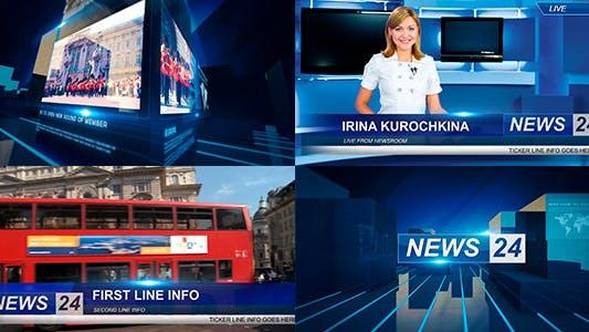 Minimalist Broadcast News Package