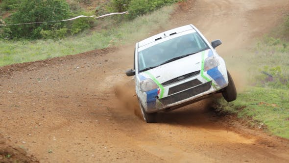 Thumbnail for Rally Car Dangerous Turn