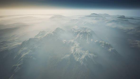 Alpen Mountain Range Luftaufnahme Fliegen