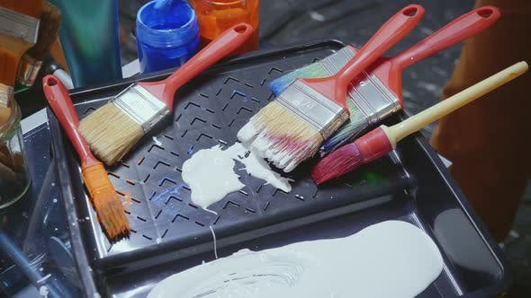 Thumbnail for Artist Mixing Paint