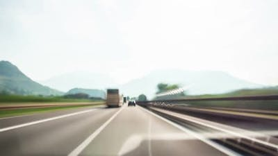 Time Lapse Driver POV Italy Highway in Dolomite
