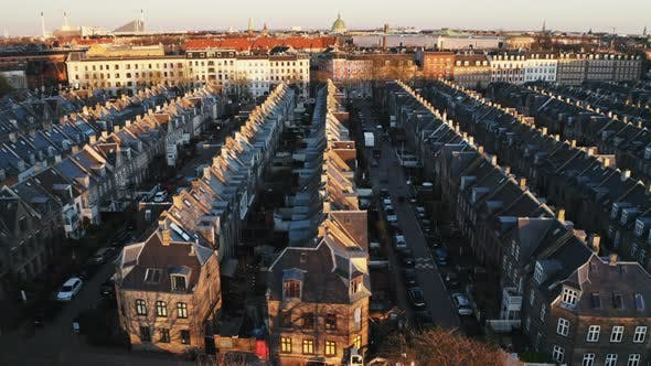Cover Image for Drone Flight Over Houses In Copenhagen