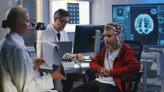 Thumbnail for Boy Undergoing EEG Brain Test