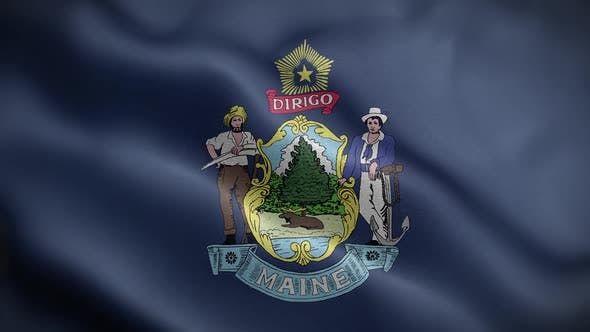 Maine State Flag Front HD