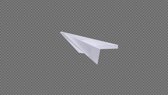 Thumbnail for Paper Plane - Blank Sheet - Flying Loop - Down Side Angle