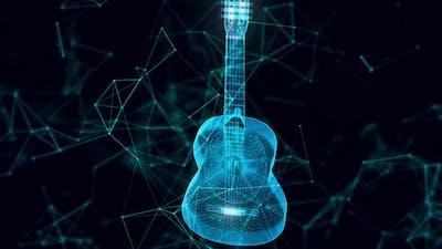 Guitar Hologram Close Up Hd