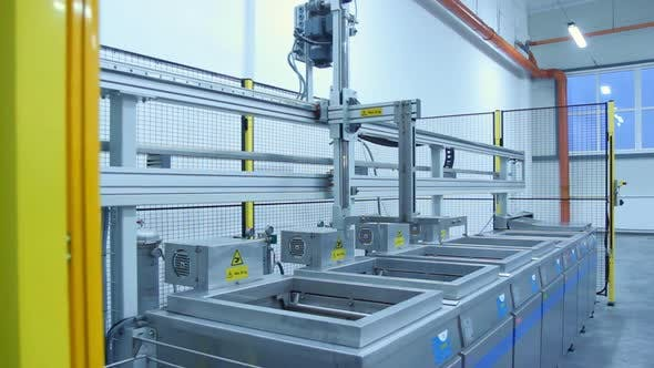Thumbnail for Production Line with Movable Conveyor Machine. Industrial Equipment at Factory
