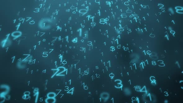 Large Numeric Characters with Matrix Style