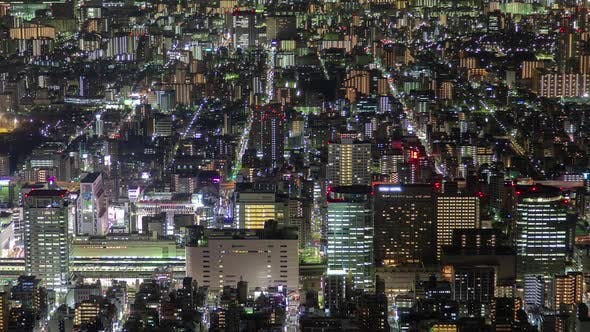 Thumbnail for Timelapse Tokyo Cityscape with Street Roads at Night