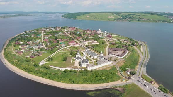 Cover Image for White Assumption Cathedral and Monastery of the Town-island of Sviyazhsk