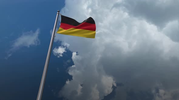 Germany Flag Waving 4K