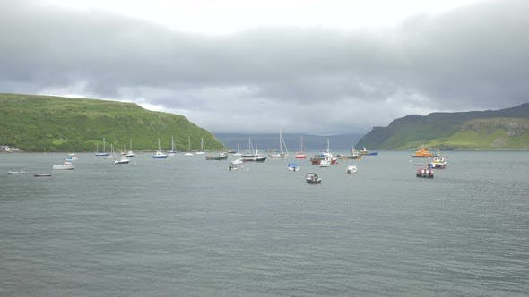 Thumbnail for Boats moored on Loch Portree, Isle of Skye