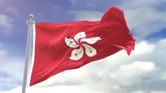 Thumbnail for Realistic Hong Kong Flag Slow Motion Looped 4K