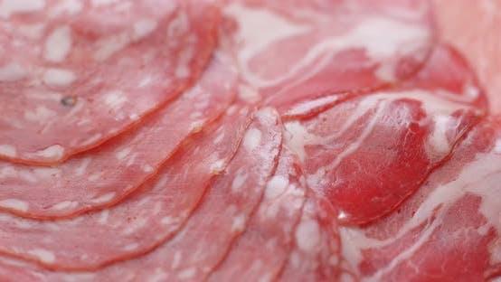 Thumbnail for Salami, sliced ham and sausage