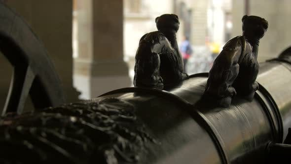 Thumbnail for Sculptures on a cannon