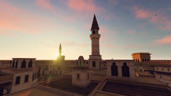 Thumbnail for City Mosque Aerial Landscape