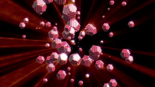 4K Emitter of icosahedral particles