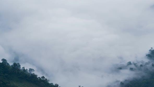 Thumbnail for Fog Over Mountain Landscape