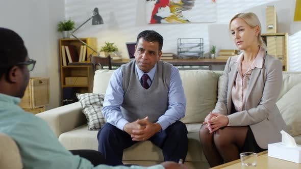 Thumbnail for Middle Aged Couple Talking to Psychologist on Therapy Session