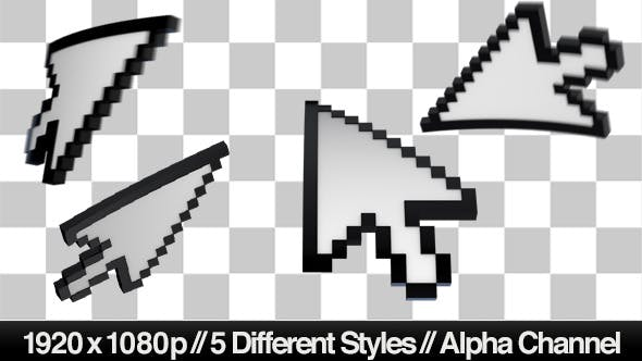 Thumbnail for 3D Mouse Pointer Cursor - 5 Styles