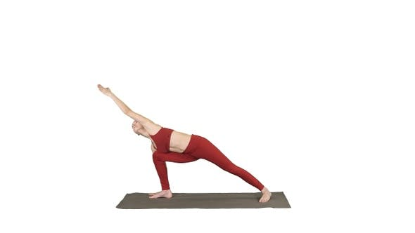 Thumbnail for Young yogi attractive woman practicing yoga concept standing