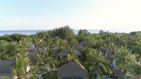 Thumbnail for Aerial view of luxury resort surrounding by tropical, Gili Trawangan, Indonesia.