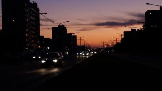 Thumbnail for City Traffic at Dusk