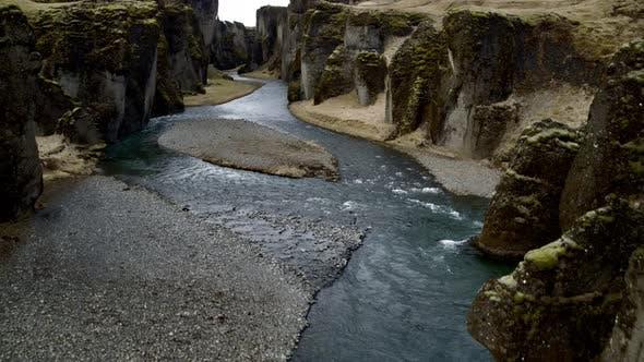 Thumbnail for Fjadrargljufur River Flowing Downstream