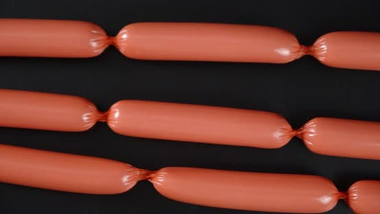A Handful of Boiled Sausages Slowly Rotates