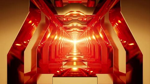 Golden Red Tunnel