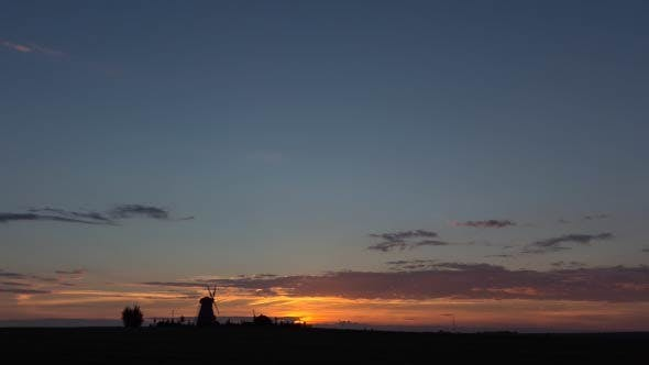 Thumbnail for Sunset over the Mill - Time Lapse (2 Shots)