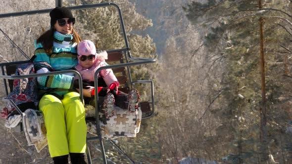 Thumbnail for Winter Mountains Panorama, Ski Lifts