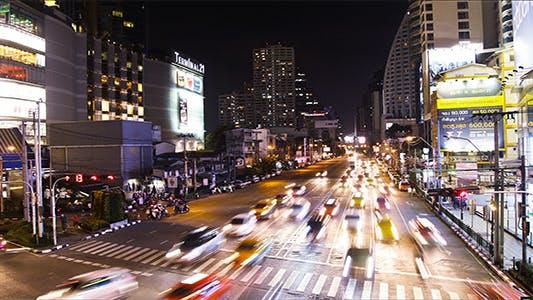 Thumbnail for Night Traffic Jam In Busy Bangkok TImelapse 2