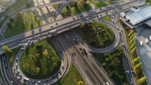 Thumbnail for Aerial View of Road Junction in Portugal