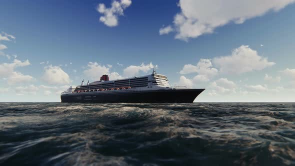 Thumbnail for Cruise Ship On The Sea 4K