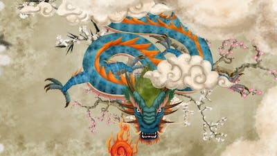 Chinese Dragon Painting 01