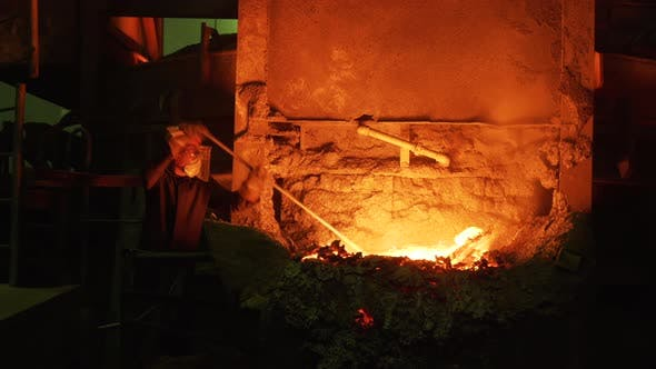 Thumbnail for Process of steel production at the factory