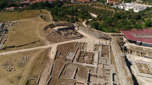 Thumbnail for People Visiting Portugal Roman City Ruines
