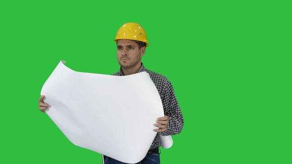 Thumbnail for Engineer Checking Plan on Construction Site on A Green