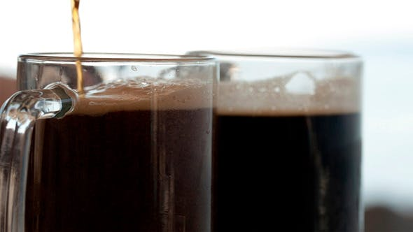 Thumbnail for Pouring Black Beer into the Beer Cup 2