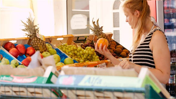 Thumbnail for Young Woman Shopping For Fresh Fruit