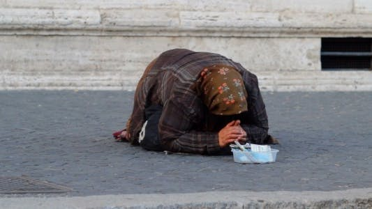 Thumbnail for Poor Woman Begging in the Streets of Rome