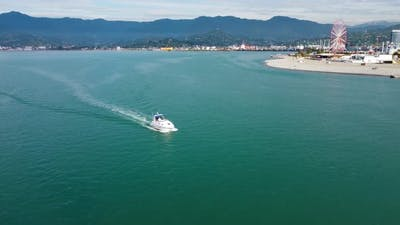Summer Boat At Sea
