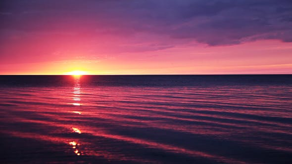 Thumbnail for Sunset Over A Calm Ocean