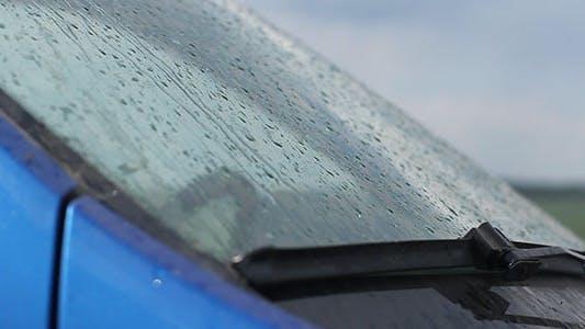 Thumbnail for Rain Drops On Car Windshield