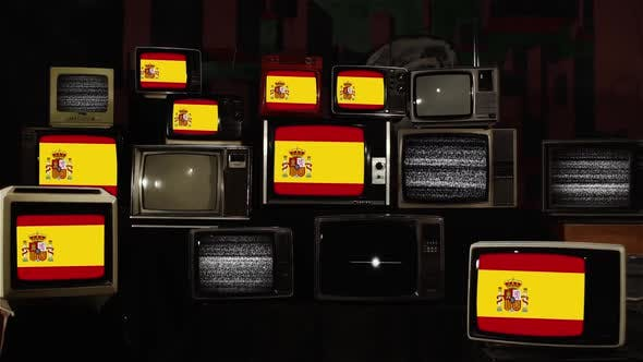 Thumbnail for Flags of Spain and Retro TVs.