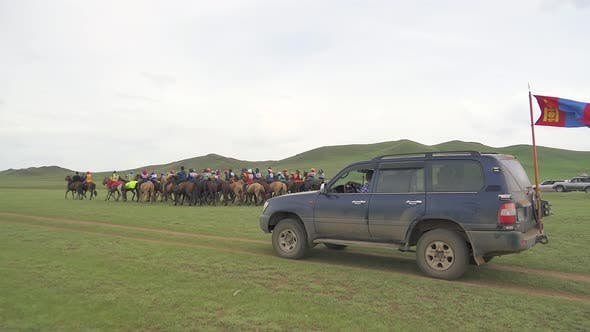 Thumbnail for Traditional Mongolian Horse Race Before Start