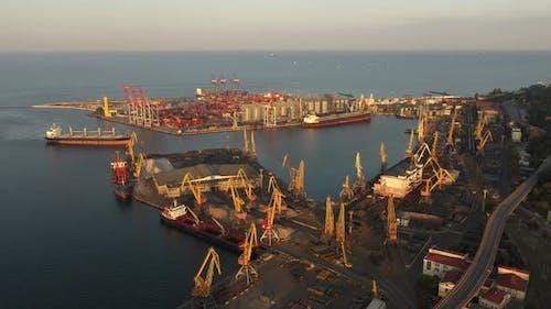 The port of Odesa, Ukraine