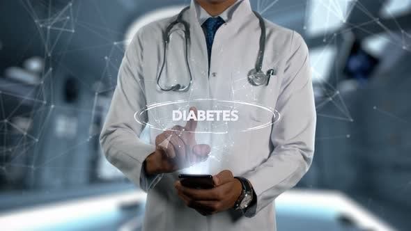 Thumbnail for Diabetes Male Doctor Hologram Illness Word