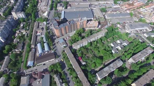 Top blick auf das panorama der stadt